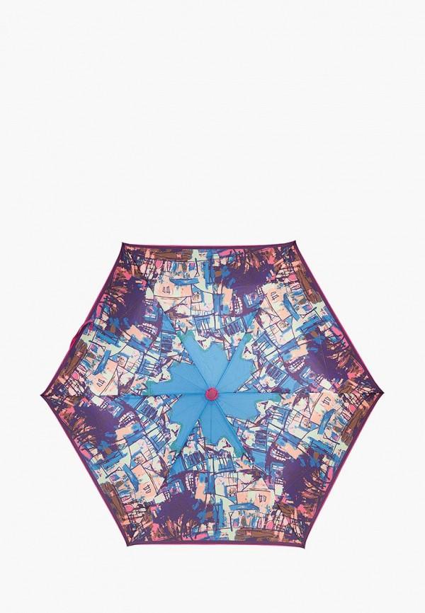 Labbra | Женский синий складной зонт Labbra | Clouty