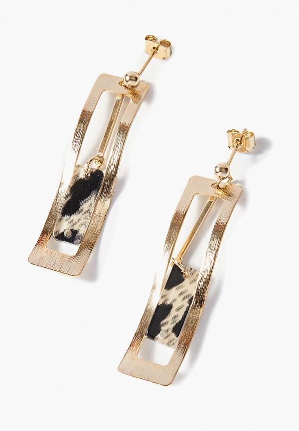 Exclaim | золотой, серый Женские серьги Exclaim | Clouty