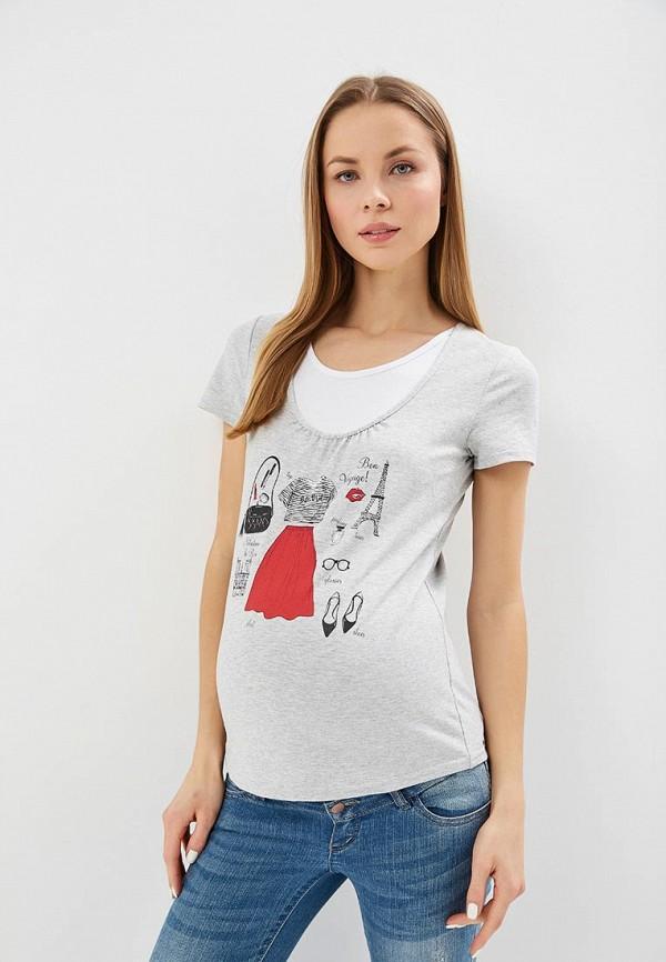 Очаровательная Адель | серый Женская серая футболка Очаровательная Адель | Clouty