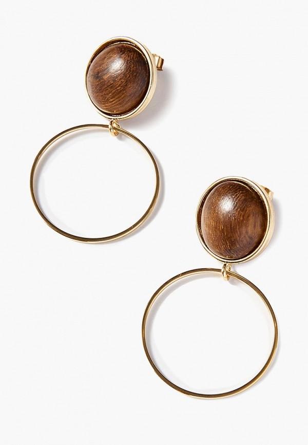 Exclaim | золотой, коричневый Женские серьги Exclaim | Clouty