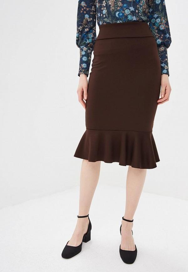 Alina Assi | коричневый Женская коричневая юбка Alina Assi | Clouty