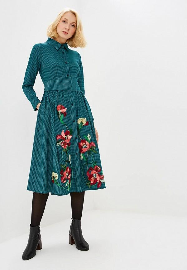 Yukostyle | бирюзовый Женское бирюзовое платье Yukostyle | Clouty
