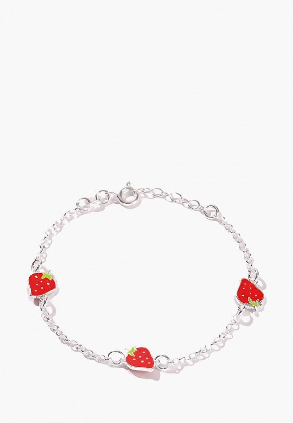 Exclaim | красный, серебряный Браслет Exclaim для девочек | Clouty