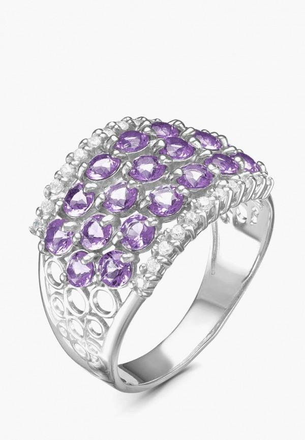 серебро россии   серебряный, фиолетовый Женское кольцо серебро россии   Clouty