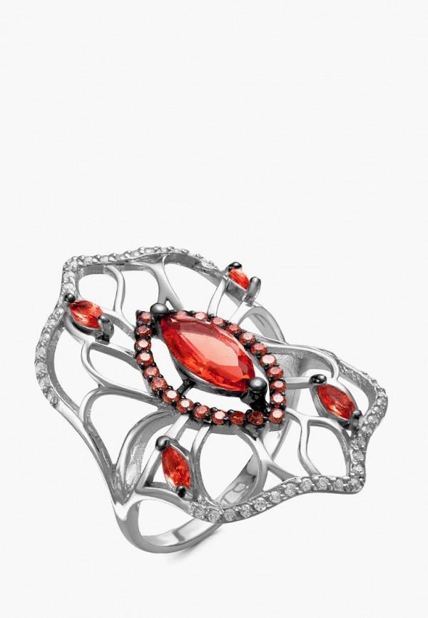 серебро россии   красный, серебряный Женское кольцо серебро россии   Clouty