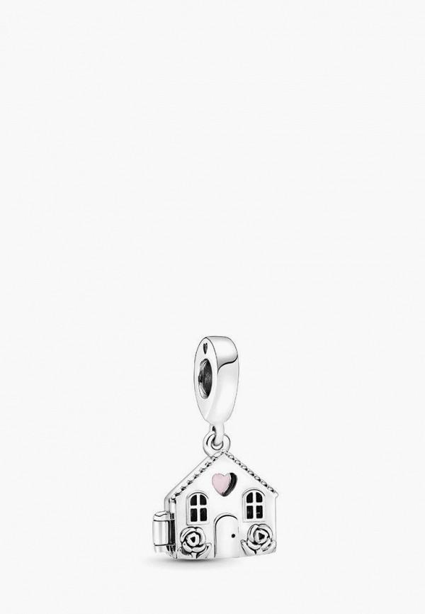 PANDORA | розовый, серебряный Шарм | Clouty