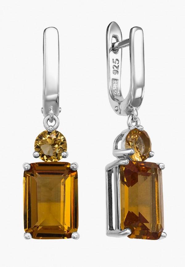 серебро россии | коричневый, серебряный Женские серьги серебро россии | Clouty