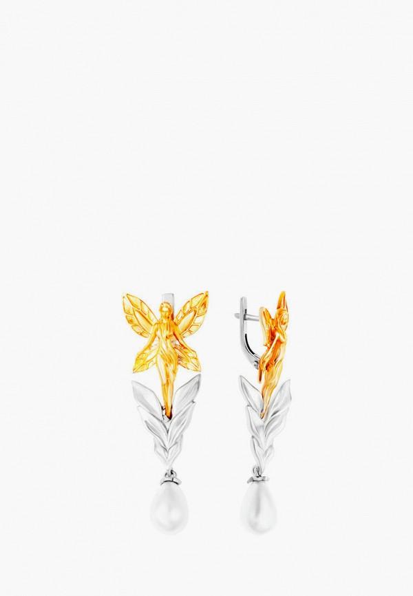 Наше Золото   мультиколор, серебряный Женские серьги Наше Золото   Clouty