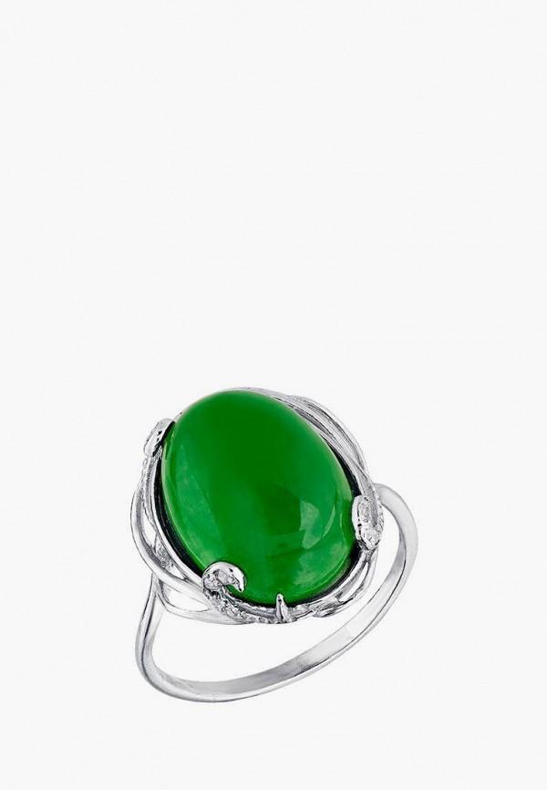 Приволжский Ювелир | зеленый, серебряный Женское кольцо Приволжский Ювелир | Clouty
