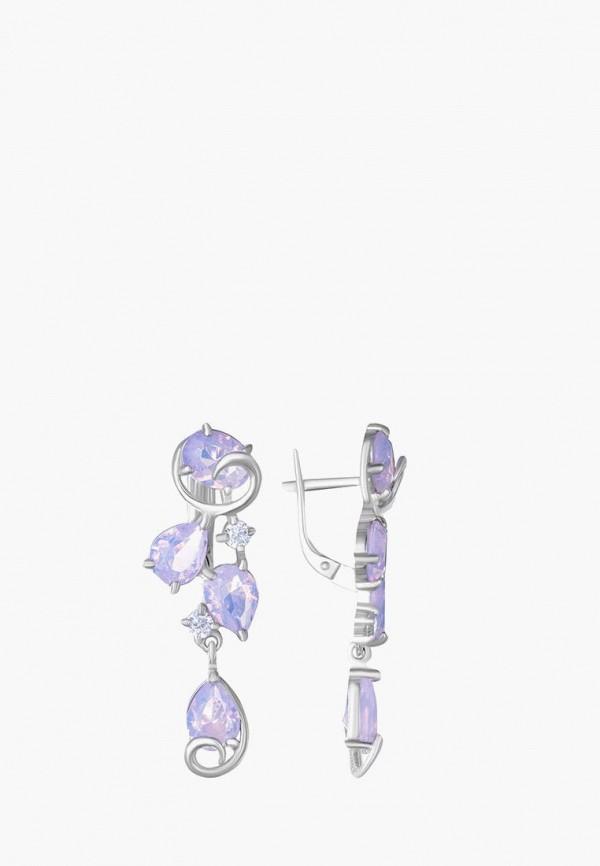Наше Золото | розовый, серебряный Женские серьги Наше Золото | Clouty