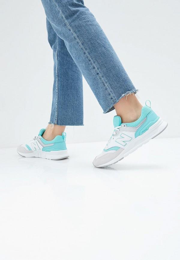 New Balance   белый Женские белые кроссовки New Balance резина   Clouty