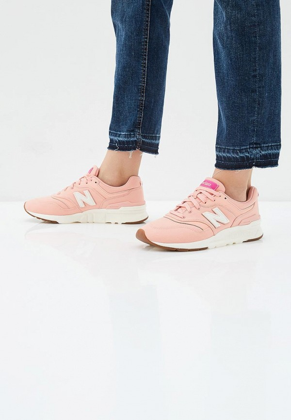 New Balance | розовый Женские розовые кроссовки New Balance искусственный материал, резина | Clouty