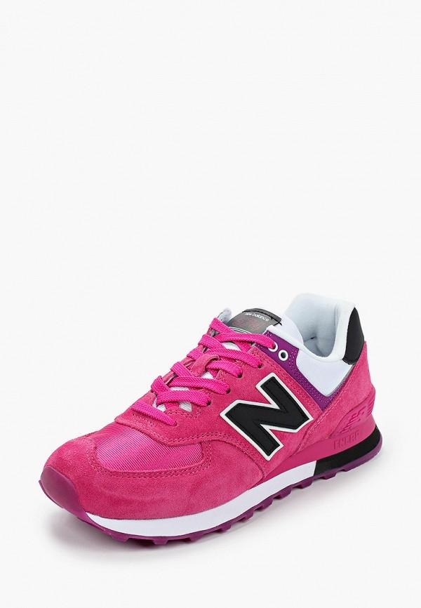New Balance | розовый Женские розовые кроссовки New Balance искусственный материал | Clouty