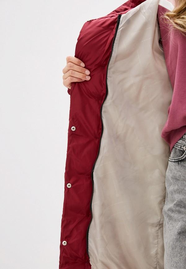 Nerouge | бордовый Женская зимняя бордовая утепленная куртка Nerouge | Clouty