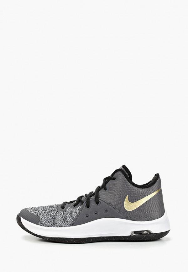NIKE | серый, черный Мужские кроссовки NIKE полимер, резина | Clouty