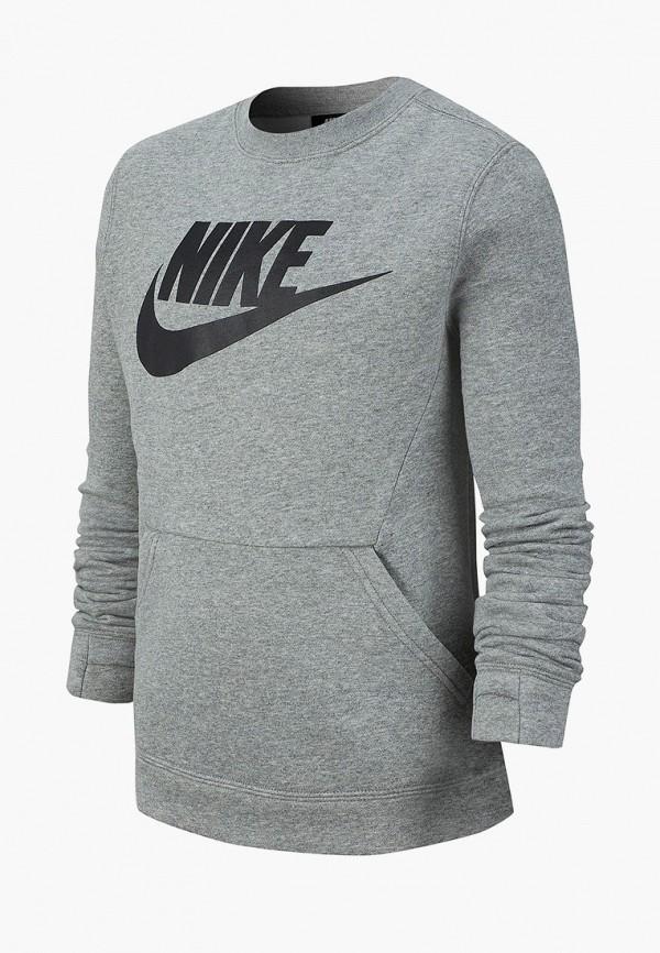 NIKE | Серый свитшот NIKE для мальчиков | Clouty