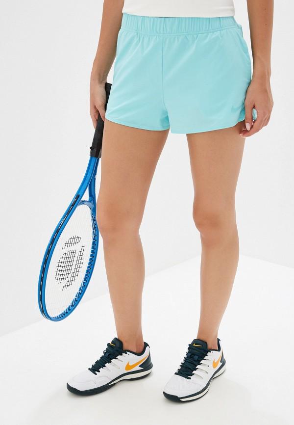 NIKE | бирюзовый Женские бирюзовые спортивные шорты NIKE | Clouty