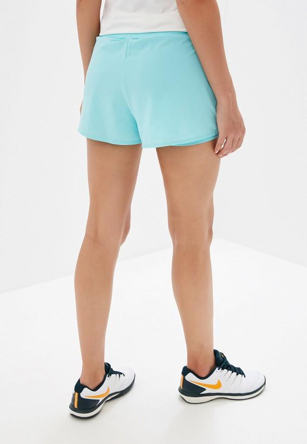 NIKE   бирюзовый Женские бирюзовые спортивные шорты NIKE   Clouty