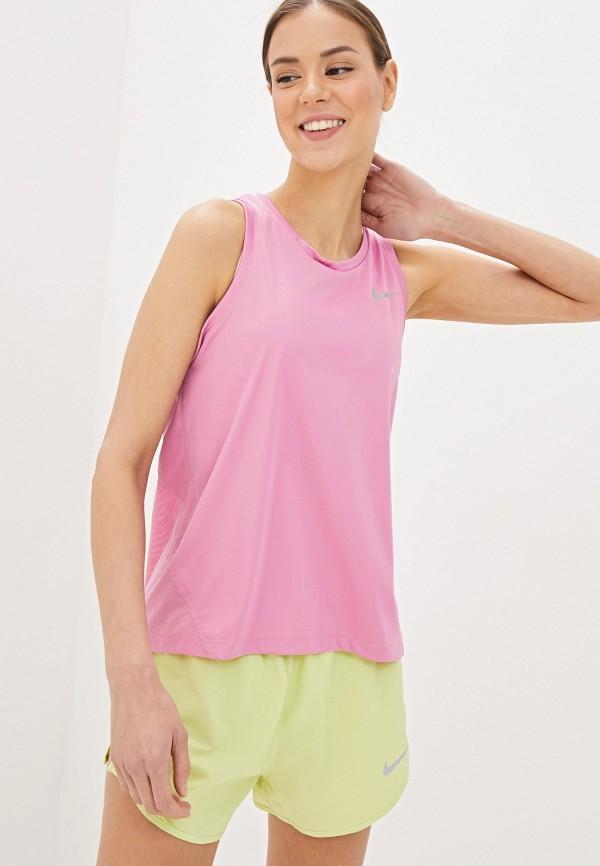 NIKE | розовый Женская розовая спортивная майка NIKE | Clouty
