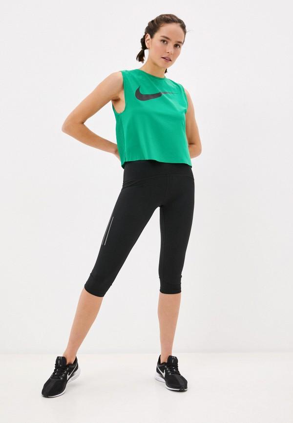 NIKE | зеленый Майка спортивная Nike | Clouty