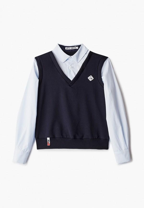 Nota Bene | синий Рубашка Nota Bene | Clouty