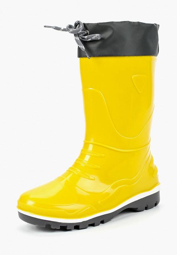 Nordman   желтый Желтые резиновые сапоги Nordman ПВХ для девочек   Clouty