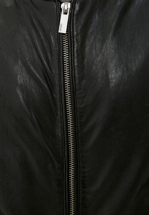 Oakwood   черный Куртка кожаная Oakwood   Clouty