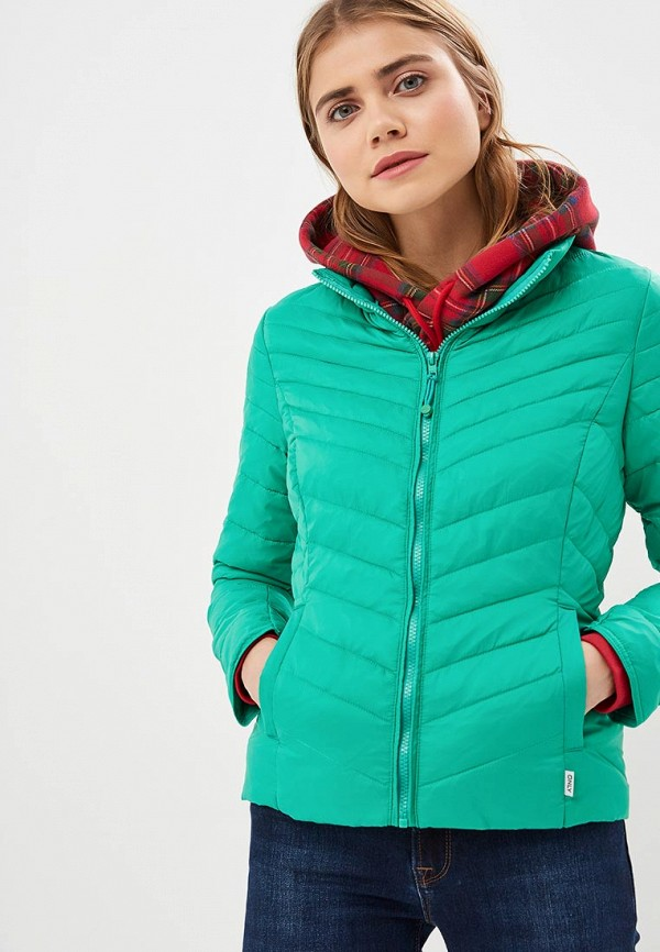 Only | зеленый Женская зеленая утепленная куртка Only | Clouty