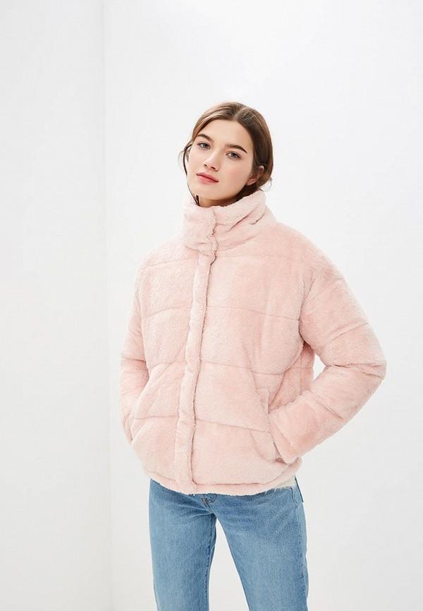 Only | розовый Женская розовая утепленная куртка Only | Clouty