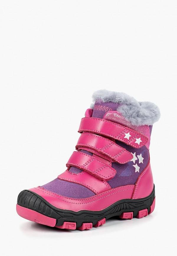 Orthoboom | розовый Зимние розовые ботинки Orthoboom термопластиковая резина для девочек | Clouty
