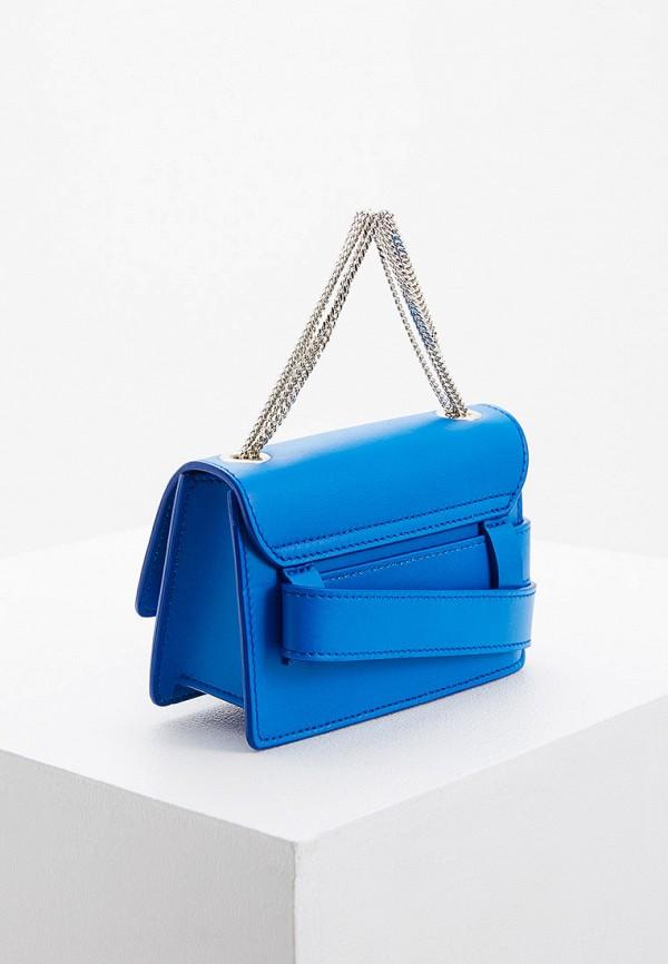 Patrizia Pepe | синий Женская синяя поясная сумка Patrizia Pepe | Clouty
