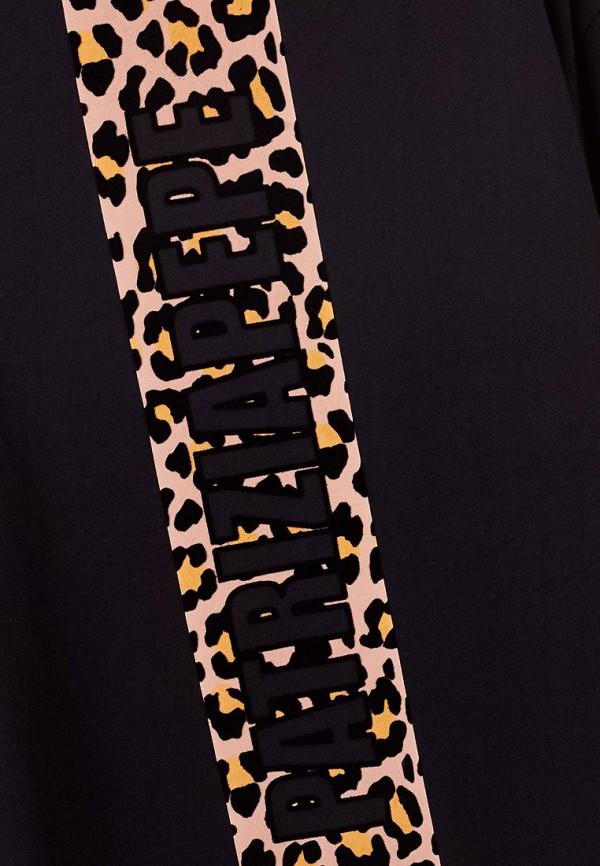 Patrizia Pepe | Черный свитшот Patrizia Pepe для девочек | Clouty