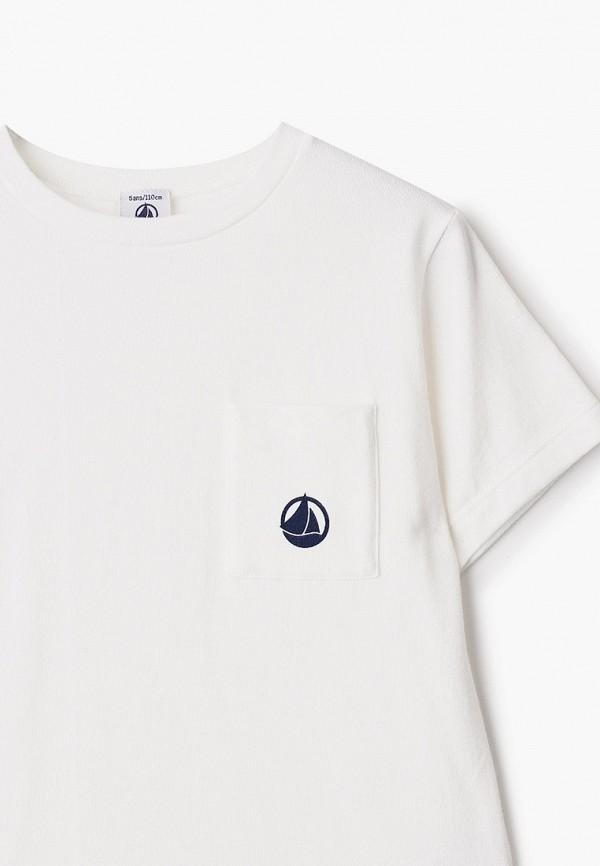 Petit Bateau | белый Белая футболка Petit Bateau для мальчиков | Clouty