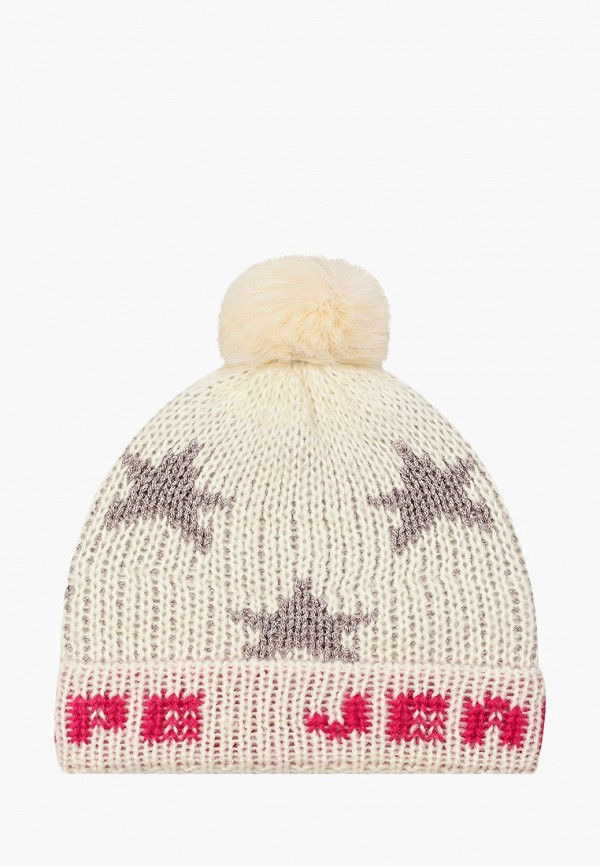 Pepe Jeans | белый Зимняя белая шапка Pepe Jeans для девочек | Clouty
