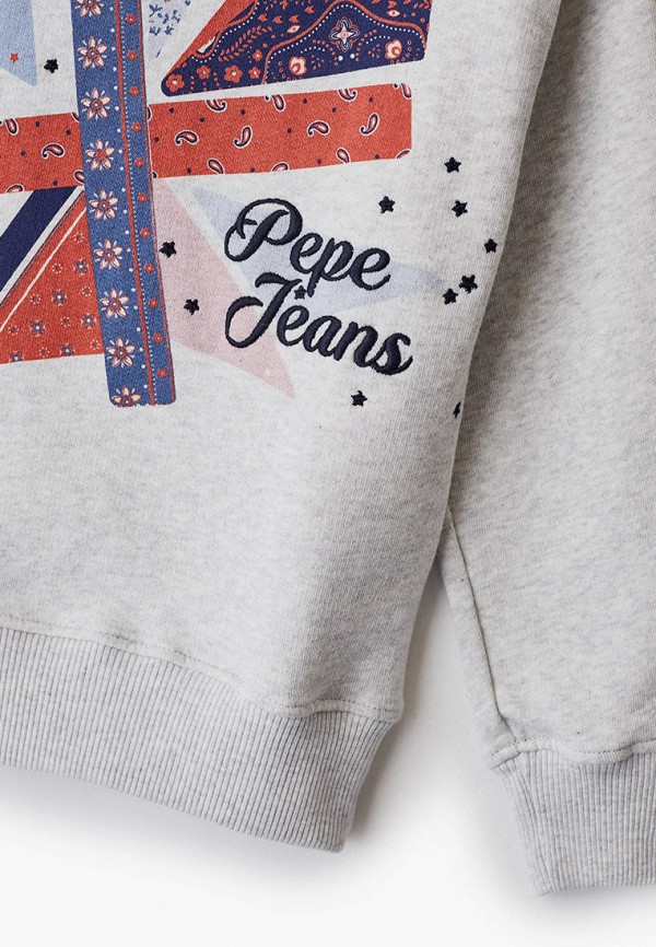 Pepe Jeans   Серый свитшот Pepe Jeans для девочек   Clouty