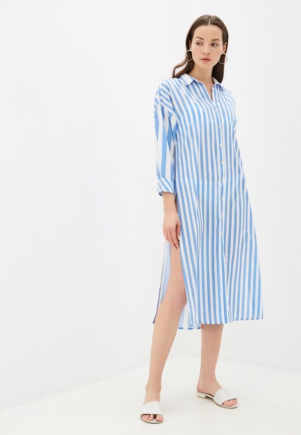 Phax   голубой Летнее голубое пляжное платье Phax   Clouty
