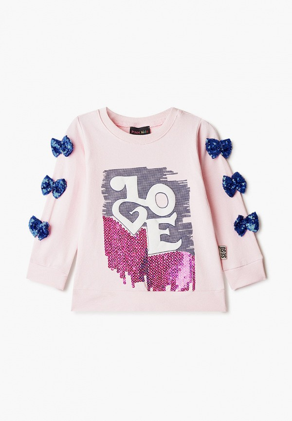 Pink Kids | Розовый свитшот Pink Kids для девочек | Clouty