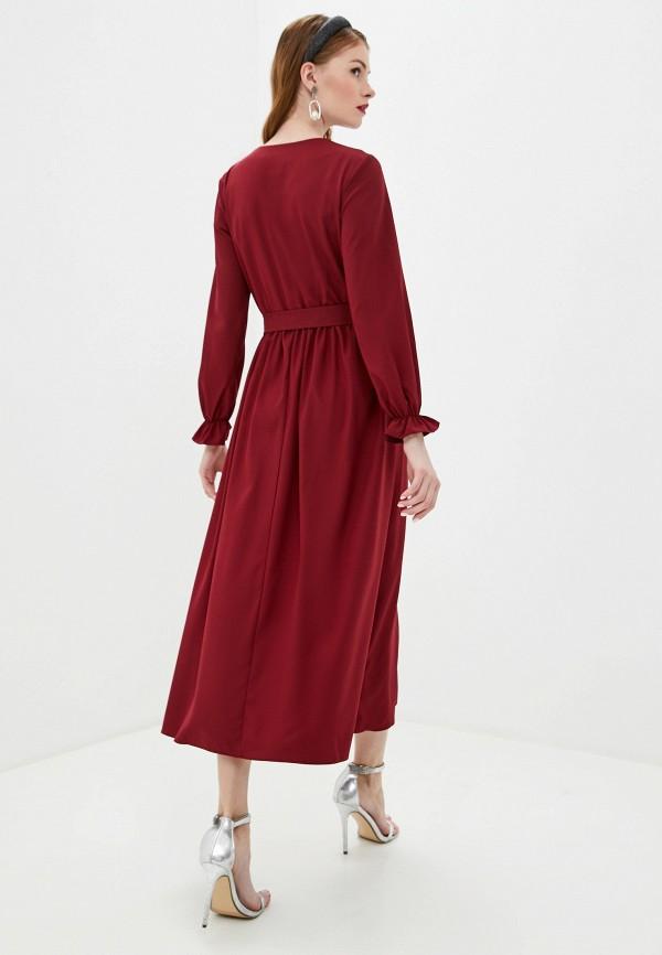 Pink Summer | бордовый Бордовое платье Pink Summer | Clouty