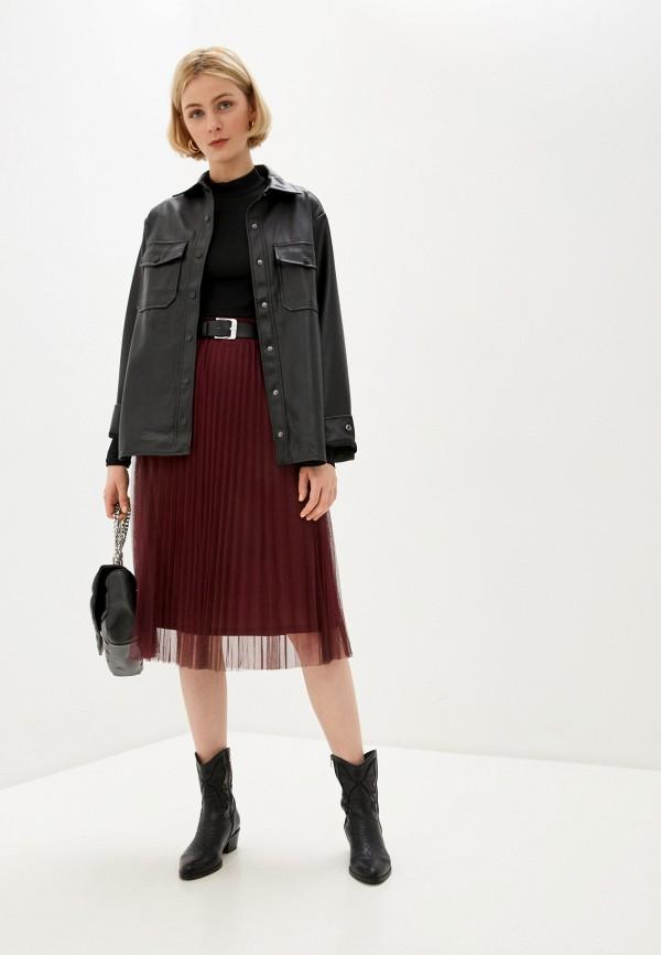Pimkie | бордовый Женская бордовая юбка Pimkie | Clouty