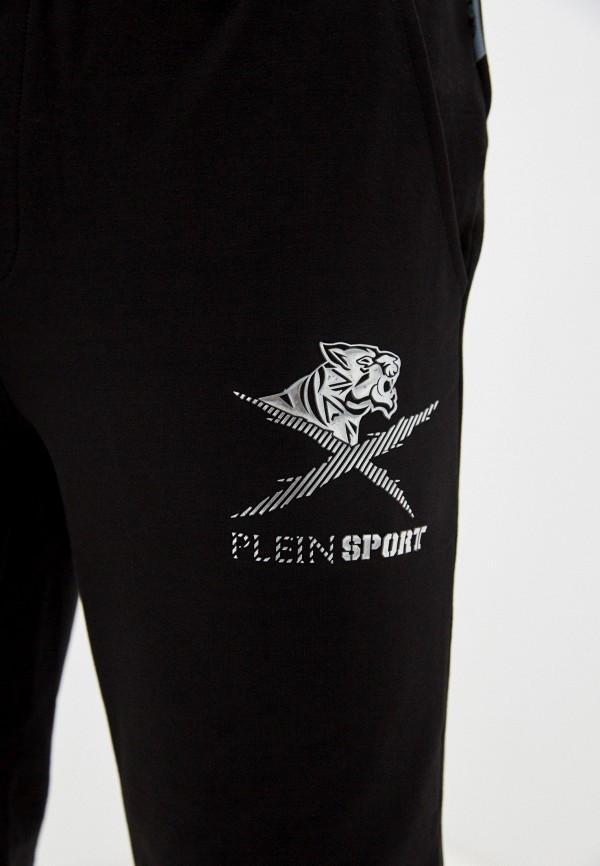 Plein Sport | черный Мужские черные спортивные шорты Plein Sport | Clouty