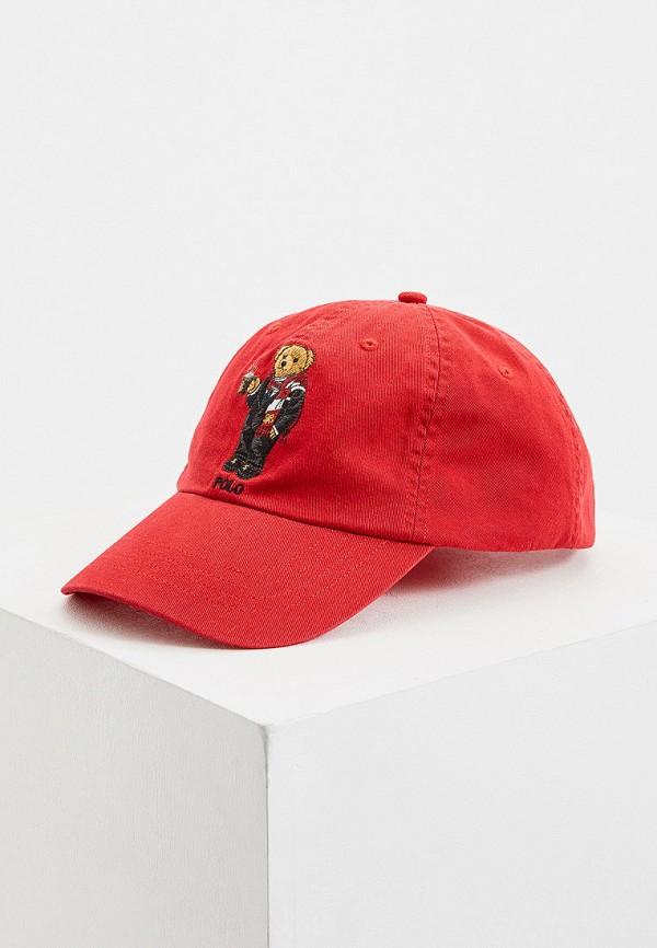 POLO RALPH LAUREN | красный Мужская красная бейсболка POLO RALPH LAUREN | Clouty