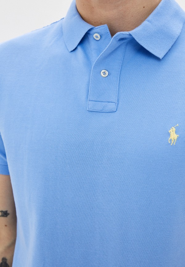 POLO RALPH LAUREN | голубой Мужское голубое поло POLO RALPH LAUREN | Clouty