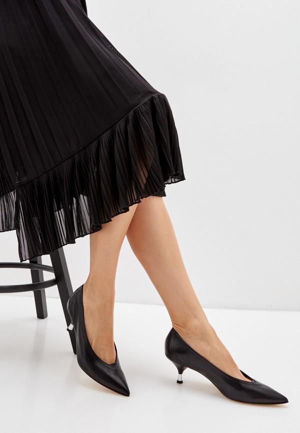 Principe Di Bologna   черный Женские черные туфли Principe Di Bologna натуральная кожа   Clouty