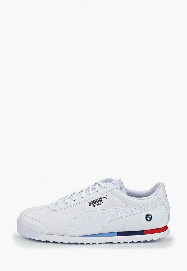 Puma | белый Мужские белые кроссовки Puma искусственный материал | Clouty