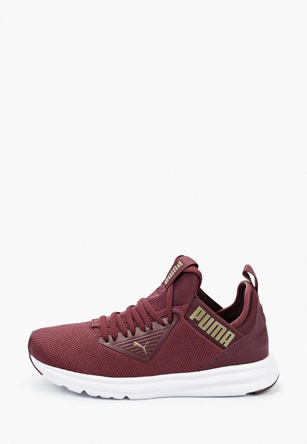 Puma | бордовый Женские бордовые кроссовки Puma резина | Clouty