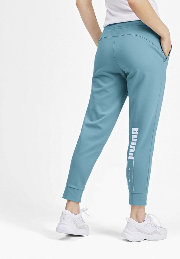 Puma | бирюзовый Женские бирюзовые спортивные брюки Puma | Clouty