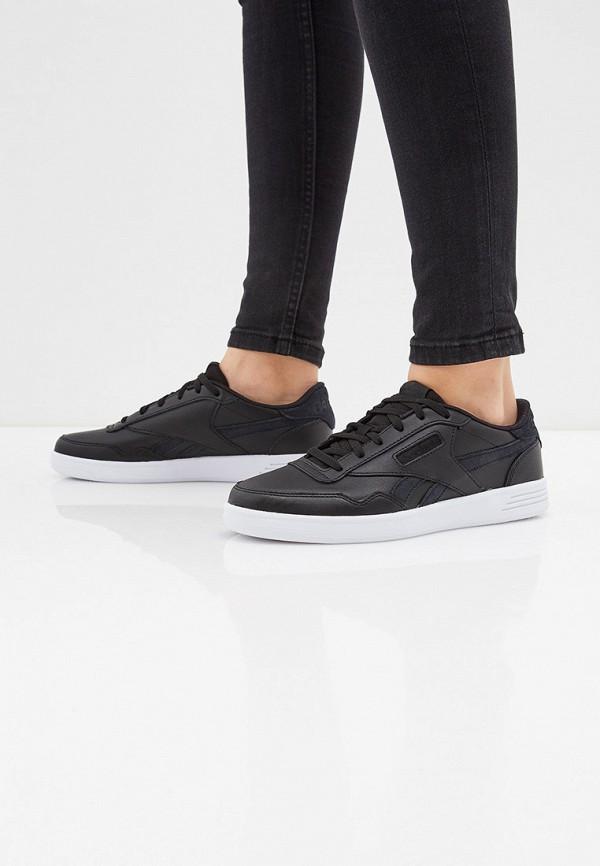 REEBOK | черный Женские черные кроссовки REEBOK резина | Clouty