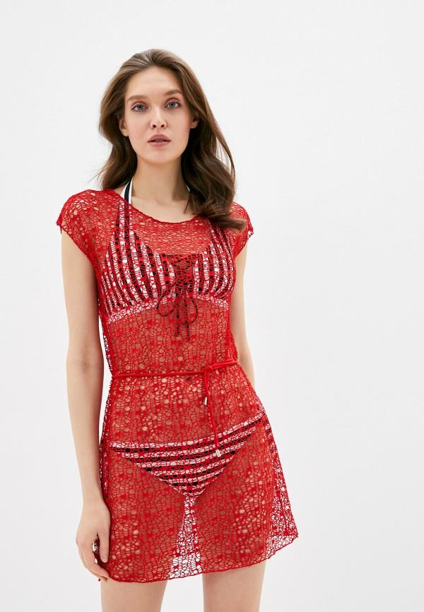 Rene Santi | красный Летнее красное пляжное платье Rene Santi | Clouty