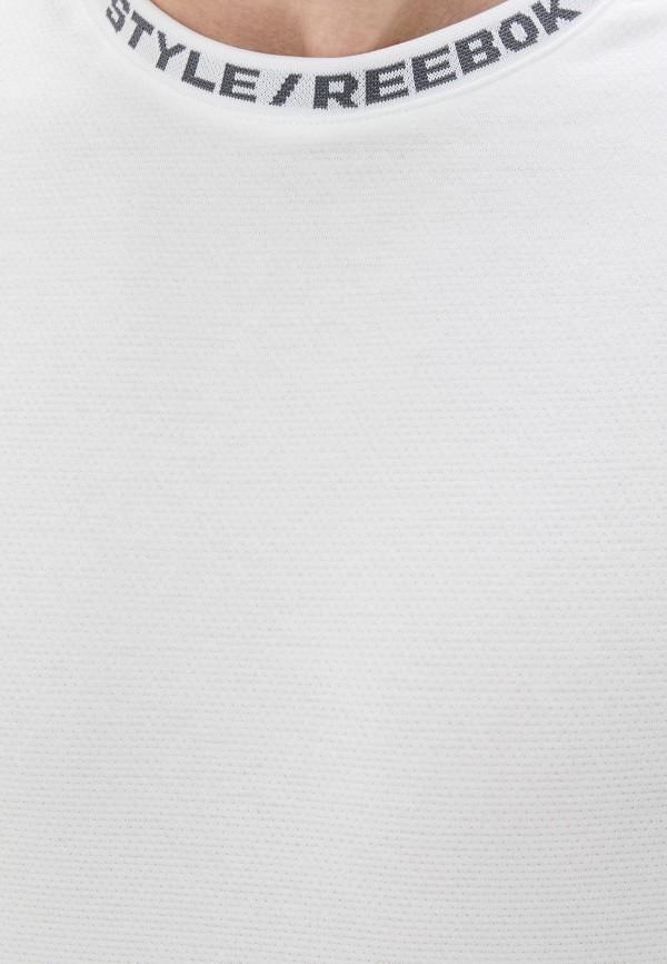 REEBOK | белый Мужская белая спортивная футболка REEBOK | Clouty