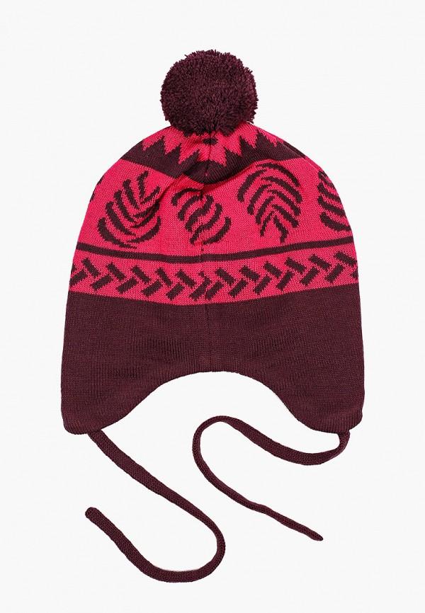 Reima   бордовый Зимняя бордовая шапка Reima для девочек   Clouty